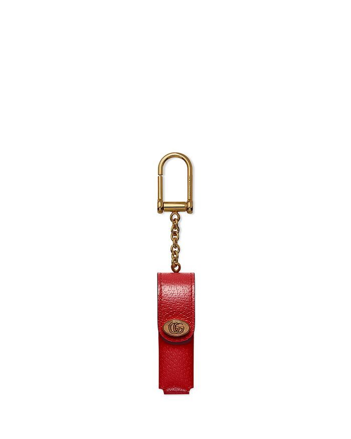 Gucci - Leather Single Porte Rouges Keychain