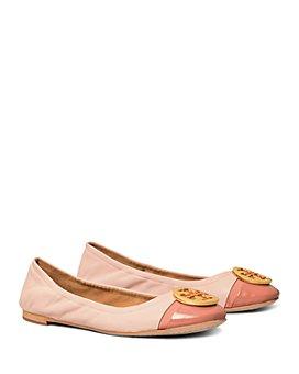 Tory Burch - Women's Minnie Logo Cap Toe Ballet Flats