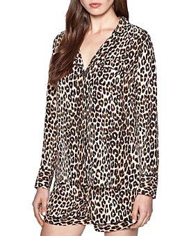 Equipment - Lillian Leopard Silk Pajama Set