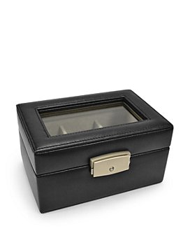 ROYCE New York - Three Slot Leather Watch Box