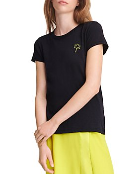 rag & bone - Cotton Embroidered Palm Tree Tee