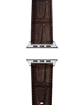 Shinola - Alligator Embossed Leather Strap for Apple Watch®, 20mm