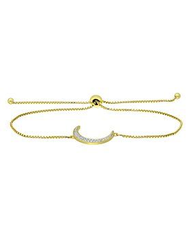 Bloomingdale's - Diamond Moon Slider Bracelet in Sterling Silver & Gold Tone Sterling Silver, 0.13 ct. t.w. - 100% Exclusive