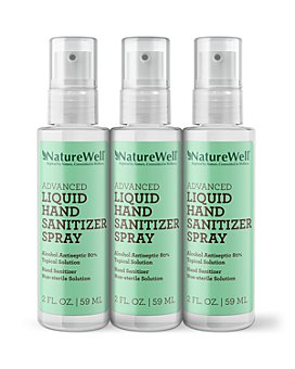 NatureWell - Advanced Liquid Hand Sanitizer Spray, Pack of 3