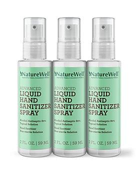 NatureWell - Advanced Liquid Hand Sanitizer Spray, Pack of 3