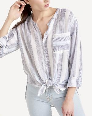 Splendid Striped Button Up Shirt-Women