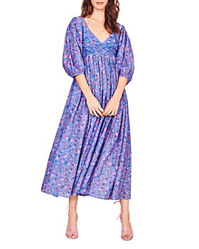 LoveShackFancy - Roslyn Cotton Printed Midi Dress