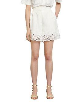 Sandro - Oyan Eyelet Lace Shorts