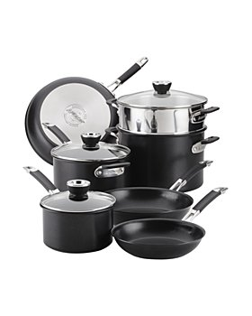 Anolon - SmartStack Hard Anodized Nesting Cookware, Set of 10