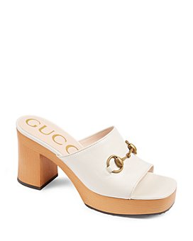 Gucci - Women's Houdan Wood Mules with Horsebit