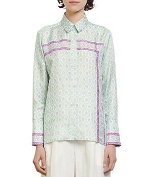 Sandro - Jarel Printed Silk Shirt