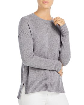 C by Bloomingdale's - High/Low Cashmere Crewneck Sweater - 100% Exclusive