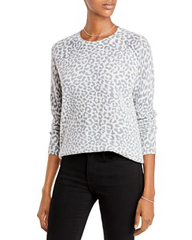 AQUA - Leopard Print Cashmere Sweater - 100% Exclusive