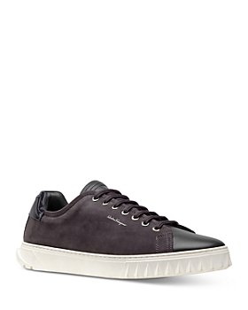 Salvatore Ferragamo - Men's Cube Leather & Suede Low-Top Sneakers