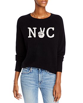 AQUA - NYC Graphic Cashmere Sweater - 100% Exclusive