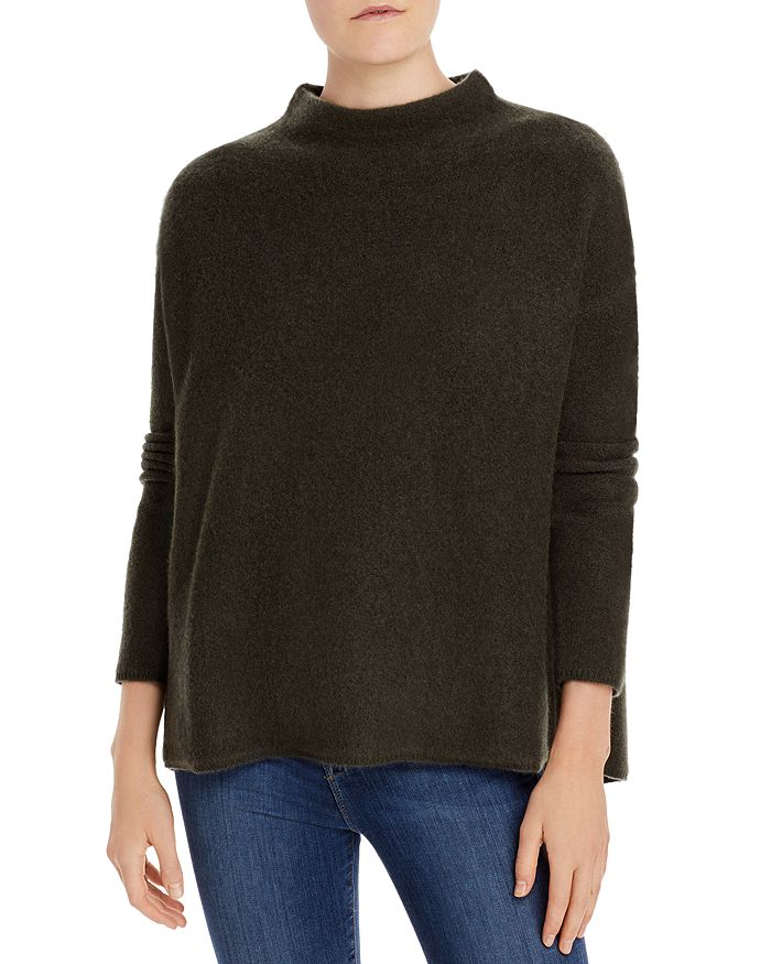 Brushed Cashmere Mock Neck Sweater 100% Exclusive