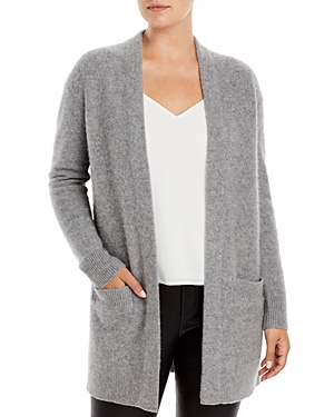 Cashmere Open Front Cardigan With Pockets