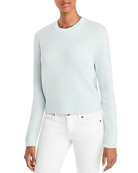 AQUA - Embroidered Peace Sign Cashmere Sweater - 100% Exclusive