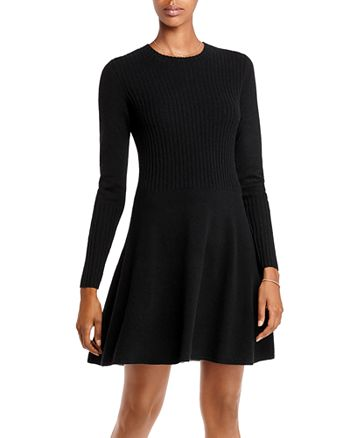 AQUA - A Line Cashmere Dress - 100% Exclusive