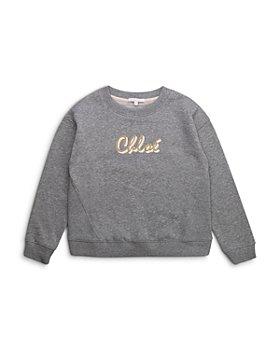 Chloé - Girls' Glitter Logo Crewneck Sweater - Big Kid