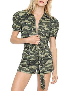 PAM & GELA - Camouflage Puff Sleeve Romper