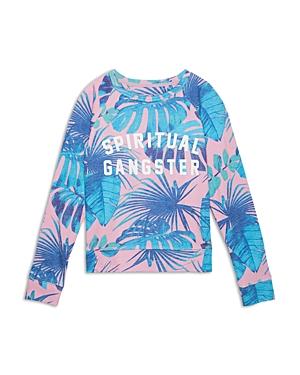 Spiritual Gangster Girls\\\' Tropical Crewneck Shirt - Little Kid, Big Kid
