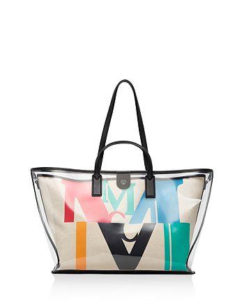 MCM - Logo Glitch Hologram Medium Shopper