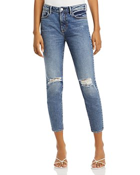 AQUA - Gizelle Destructed Cropped Jeans - 100% Exclusive