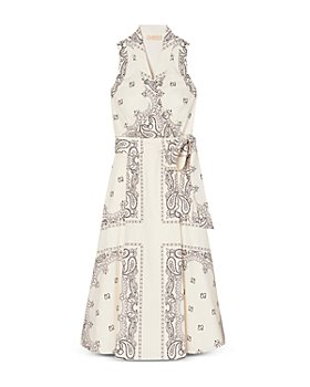 Tory Burch - Printed Cotton Wrap Dress