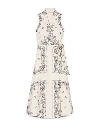 Tory Burch - Printed Cotton Wrap Dress
