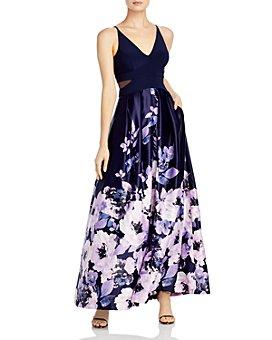AQUA - Floral Print Gown - 100% Exclusive