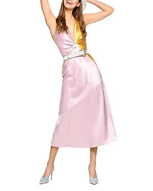 Pinko Minestra Two Tone Asymmetrical Dress-Women