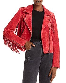 BLANKNYC - Fringe Leather Jacket
