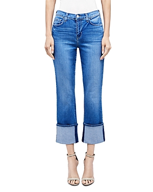 L\\\'Agence Camila Cropped Cuffed Jeans in Dover-Women