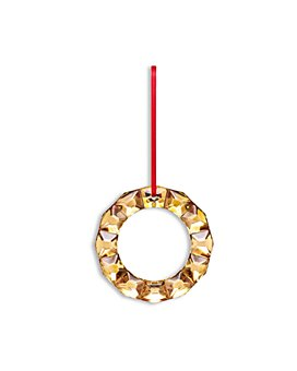Baccarat - Wreath Ornament with 20K Gold