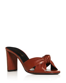 Saint Laurent - Women's Loulou High Heel Slide Sandals