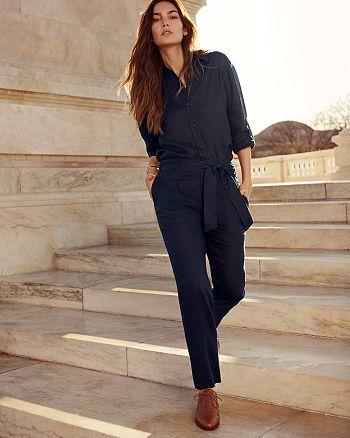 Ralph Lauren - Linen Shirt & Straight Leg Pants