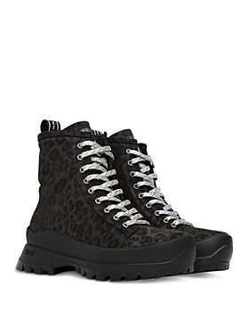 P448 - Women's Denise Animal Print Platform Sneaker Booties