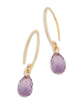 Bloomingdale's - Amethyst Briolette Mini Sweep Drop Earrings in 14K Yellow Gold - 100% Exclusive