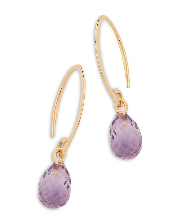 Bloomingdale's Amethyst Briolette Mini Sweep Drop Earrings in 14K Yellow Gold - 100% Exclusive  | Bloomingdale's