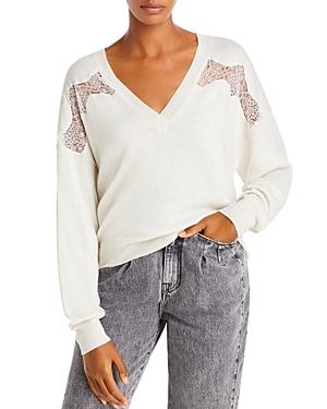 Iro Alto Merino Wool Lace Trim Sweater-Women