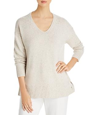 Lafayette 148 New York V Neck Cashmere Sweater