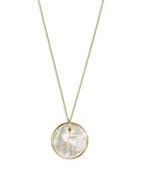 "IPPOLITA - 18K Yellow Gold Nova Mother of Pearl Pendant Necklace, 18-20"""