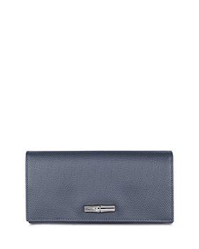 Longchamp - Roseau Wide Leather Continental Wallet