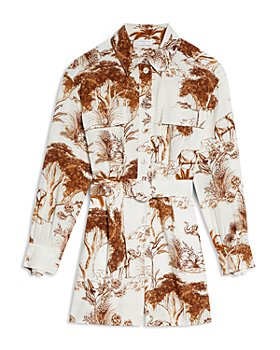 Sandro - Jaine Safari Print Playsuit