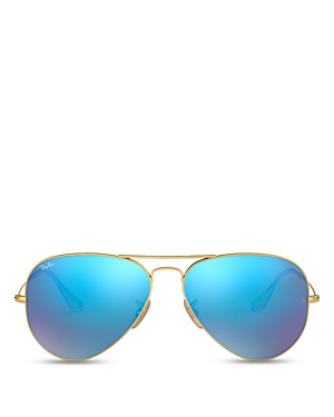 Ray-Ban Unisex Solid Aviator Sunglasses, 62mm