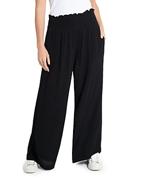 1.STATE - Smocked Wide Leg Gauze Pants