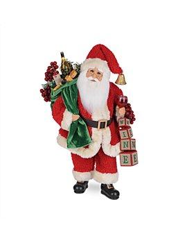 Karen Didion Originals - Wine Blocks Santa