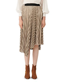 Maje - Jungla Asymmetrical Striped Skirt