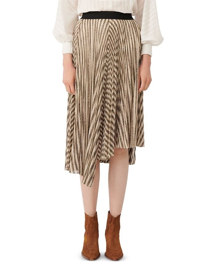 Maje - Jungla Asymmetrical Striped Skirt